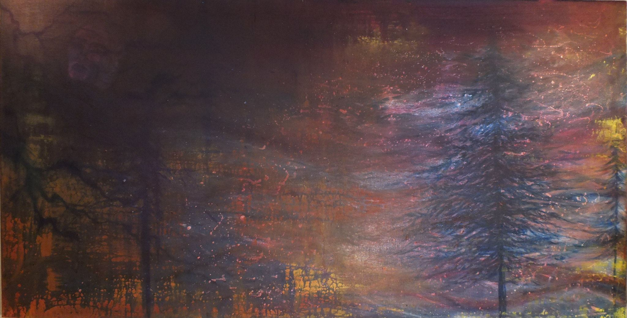 The Storm Oil and acrylic on canvas 122x61cm $400