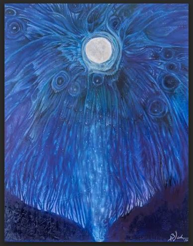 ​Moth Moon- Oil on canvas- 70x90cm-$400